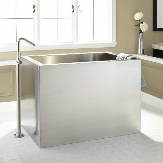 Marvelous 48 Soaking Tub 48 Amery Brushed Stainless Steel Soaking Tub Bathroom
