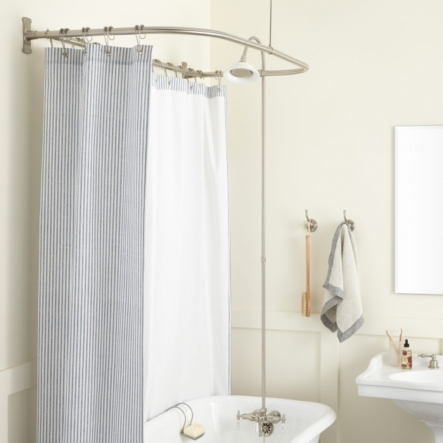 Marvelous Clawfoot Tub Shower Ring Clawfoot Tub To Shower Conversion Kits Signature Hardware