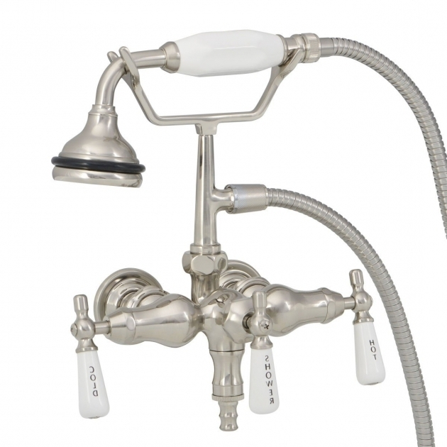 Marvelous Faucet For Clawfoot Tub With Shower Attachment Clawfoot Bathtub Faucets Clawfoot Tub Faucet Vintage Tub Bath