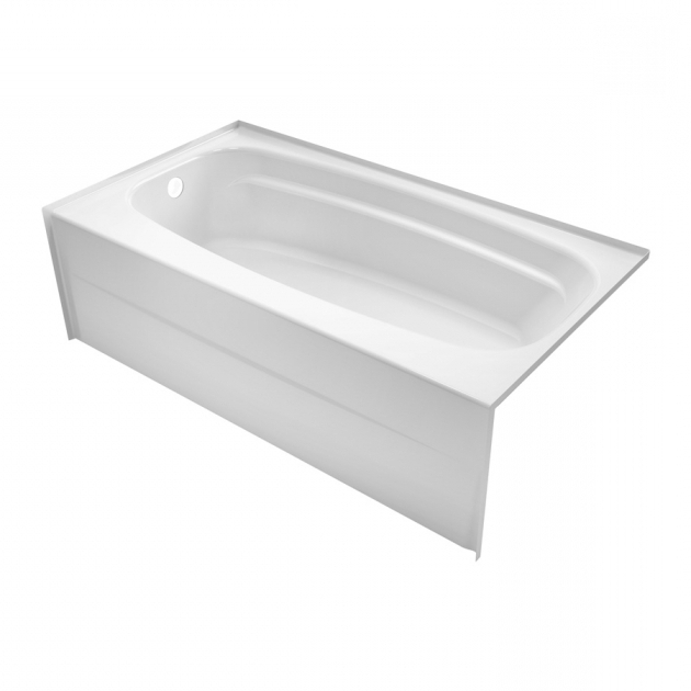 Outstanding 54 Inch Bathtub Shop Delta Styla 53875 In White Acrylic Alcove Bathtub With Right
