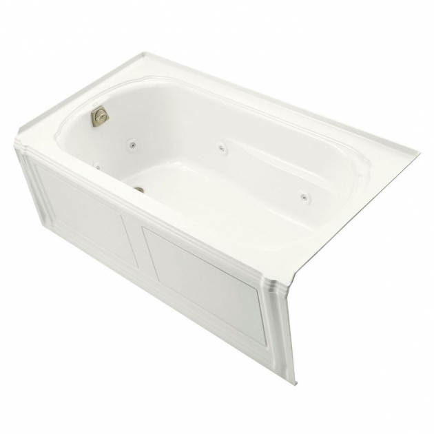 Picture of Alcove Whirlpool Tub Kohler Portrait 5 Ft Acrylic Right Drain Rectangular Alcove