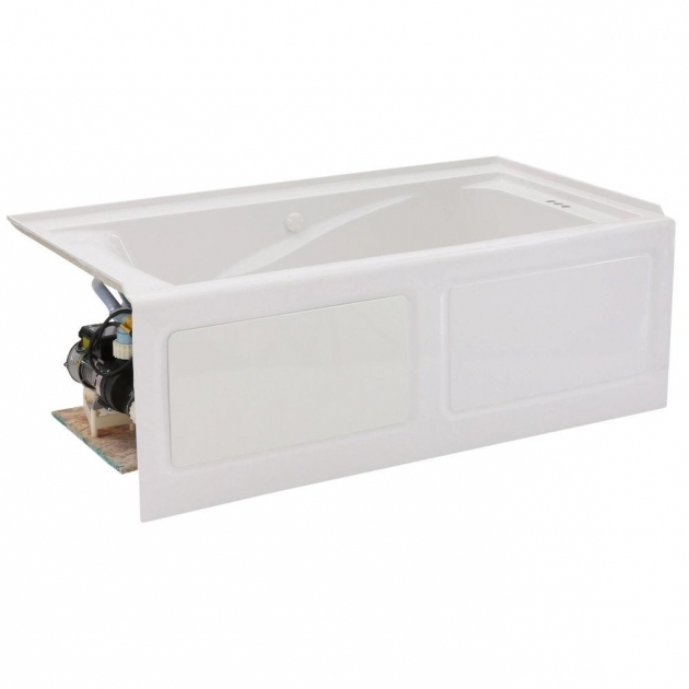 Remarkable Alcove Whirlpool Tub American Standard Everclean 5 Ft X 32 In Left Drain Whirlpool