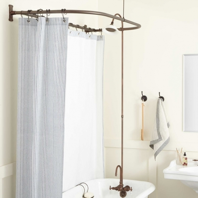 Stunning Clawfoot Tub Shower Ring Clawfoot Tub To Shower Conversion Kits Signature Hardware