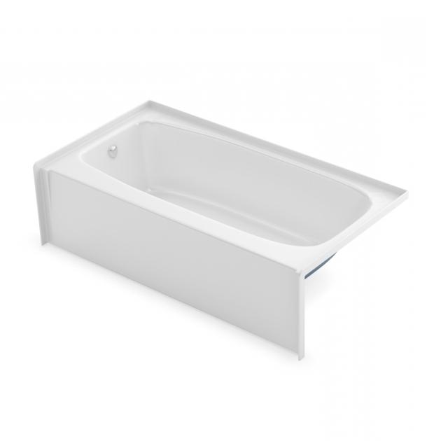 Stylish 54 Inch Bathtub To 2954 Alcove Bathtubs Aker Maax