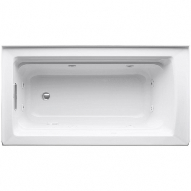Wonderful Alcove Whirlpool Tub Kohler Archer 5 Ft Acrylic Right Drain Rectangular Alcove