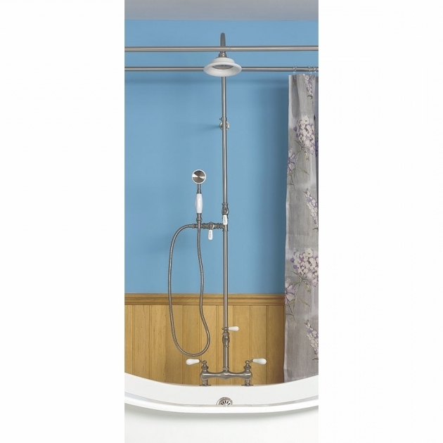 Wonderful Faucet For Clawfoot Tub With Shower Attachment Clawfoot Tub Shower Kits