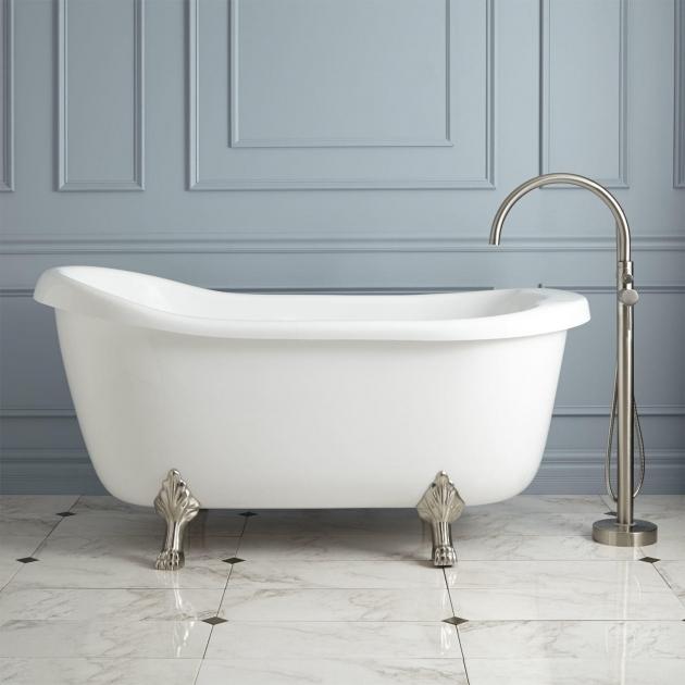 Wonderful Jetted Clawfoot Tub 67 Anelle Acrylic Slipper Clawfoot Whirlpool Tub Bathroom
