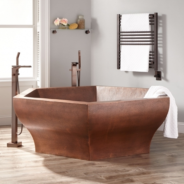 Wonderful Two Person Soaking Tub 73 Riley Hexagon Hammered Copper Two  Person Soaking Tub