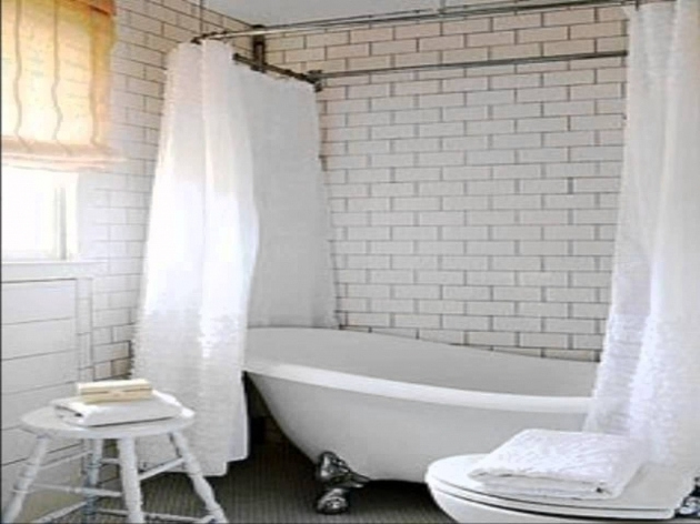 Alluring Shower Curtain For Clawfoot Tub How To Make Amazing Bathroom With Clawfoot Tub Shower Curtain
