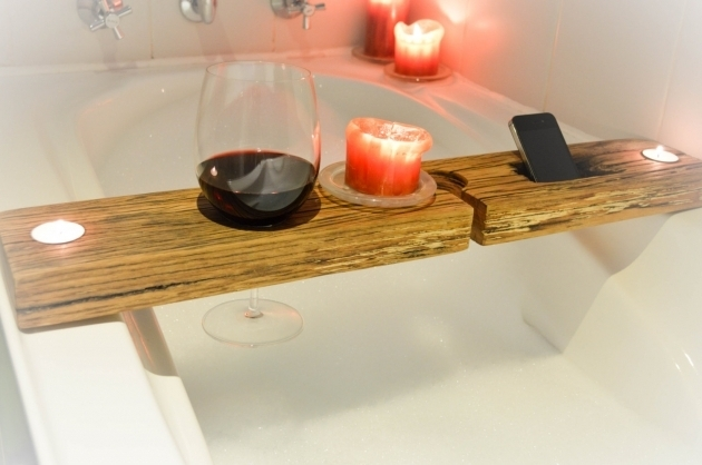 Amazing Bathtub Wine Glass Holder Bathroom Unique And Handmade Bathtub Wine Holder Designs