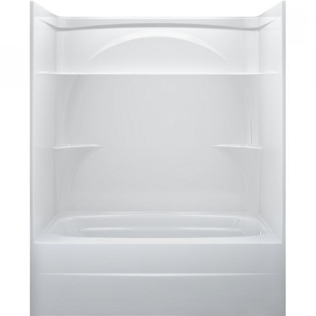 Awesome Delta Bathtubs Shop Delta White Acrylic One Piece Shower With Bathtub Common 32