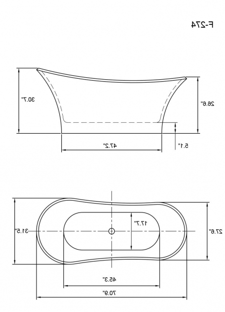 Standard bathtub dimensions bathtub designs for Standard bathtub size in feet