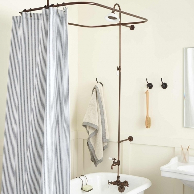 Fascinating Clawfoot Tub Shower Curtains Clawfoot Tub Shower Curtain Rods Signature Hardware
