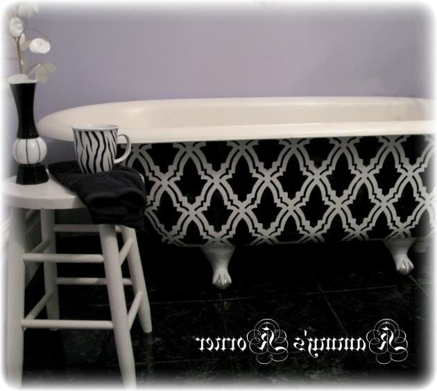 Fascinating How To Refinish A Clawfoot Tub Kammys Korner Diy Clawfoot Bathtub Refinish For 25