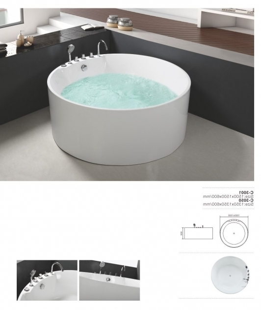 Fascinating Portable Soaking Tub 1500mm Portable For Adults Two Person Free Standing Soaking Tub