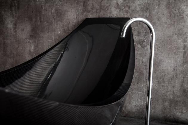 Image of Carbon Fiber Bathtub Suspended Carbon Fiber Bath Vessel Splinter Works