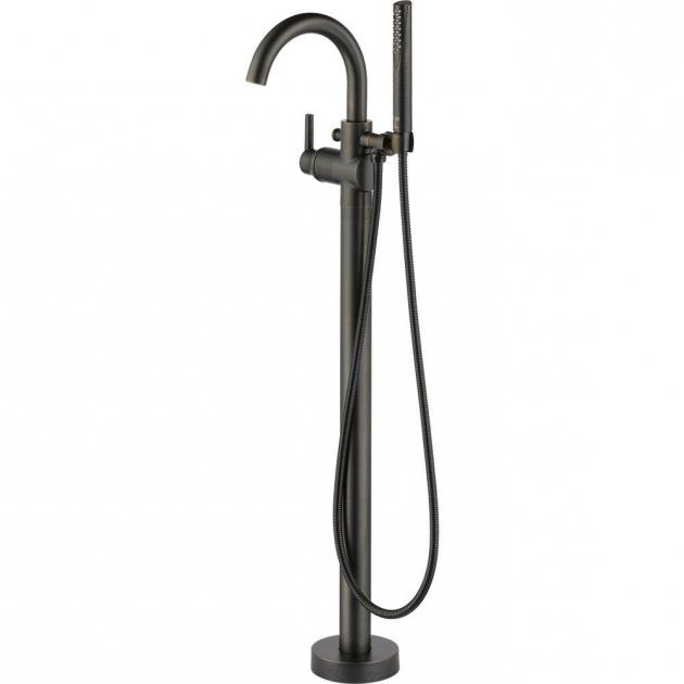 Image of Clawfoot Tub Faucet Floor Mount Bronze Claw Foot Tub Faucets Bathtub Faucets The Home Depot