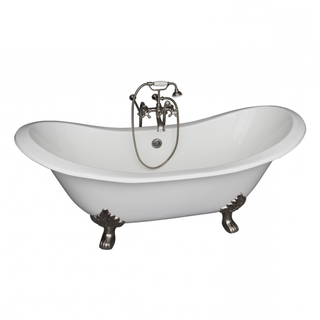Image of Clawfoot Tub Lowes Shop Barclay 71 In White Cast Iron Clawfoot Bathtub With Center