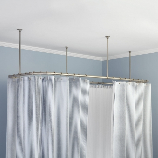Ceiling Mount Shower Curtain Rod Clawfoot Tub - Bathtub Designs