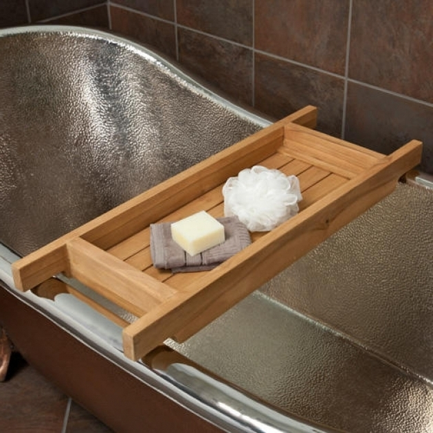 Incredible Clawfoot Tub Caddy Teak Tub Caddy Bathroom