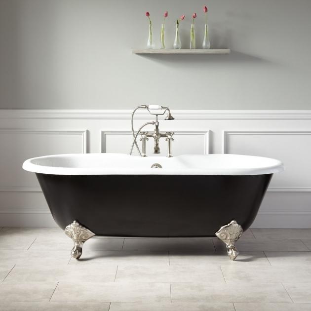 Inspiring Colored Clawfoot Tub 66 Sanford Cast Iron Clawfoot Tub Imperial Feet Black Bathroom