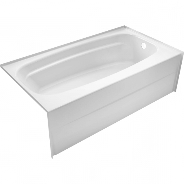 Inspiring Delta Bathtubs Shop Delta Styla 5387 In White Acrylic Alcove Bathtub With Left