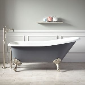 Colored Clawfoot Tub