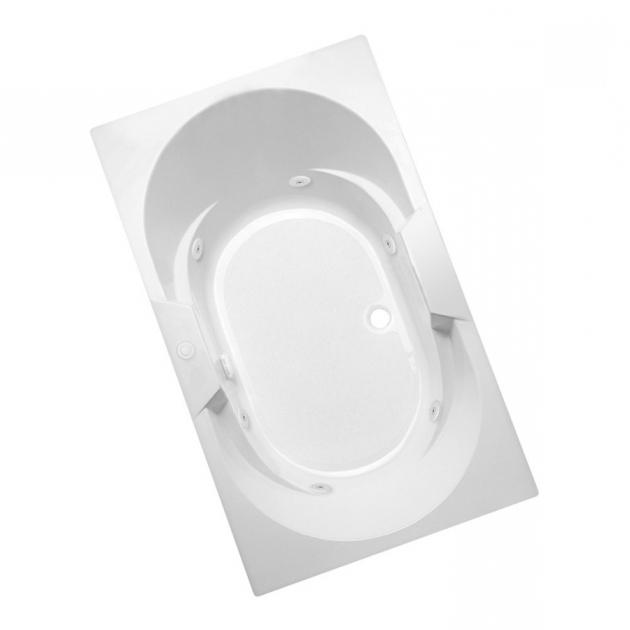 Picture of Aquaglass Whirlpool Tub Shop Aqua Glass 71 34 In L X 41 34 In W X 21 34 In H 1 Person