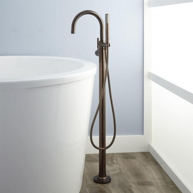 Picture of Clawfoot Tub Faucet Floor Mount Floor Mount Freestanding Tub Fillers Signature Hardware