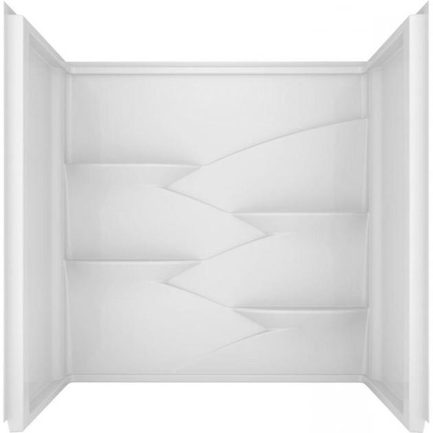 Picture of Delta Bathtubs Shop Delta Laurel High Gloss White Acrylic Bathtub Wall Surround