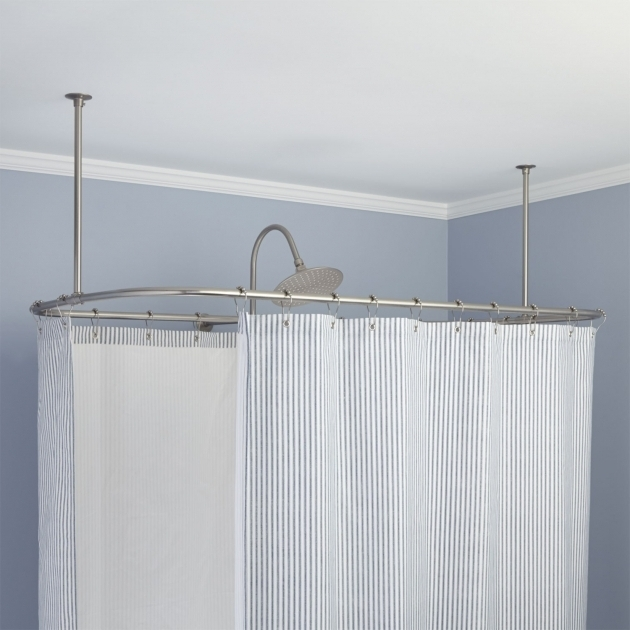 Picture of Shower Curtain For Clawfoot Tub Clawfoot Tub Shower Curtain Rods Signature Hardware