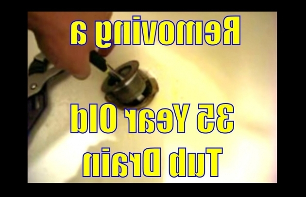 Remarkable How To Replace A Bathtub Drain Removing A 35 Year Old Tub Drain Youtube