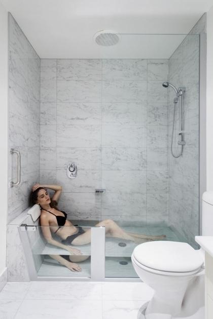Small bathtub shower combo bathtub designs for Garden bathtub shower combo