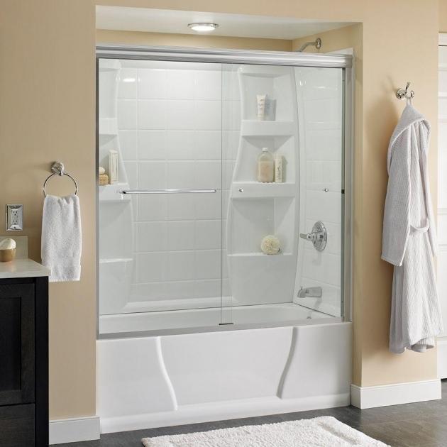 Stylish Delta Bathtubs Delta Simplicity 60 In X 58 18 In Semi Framed Sliding Tub Door
