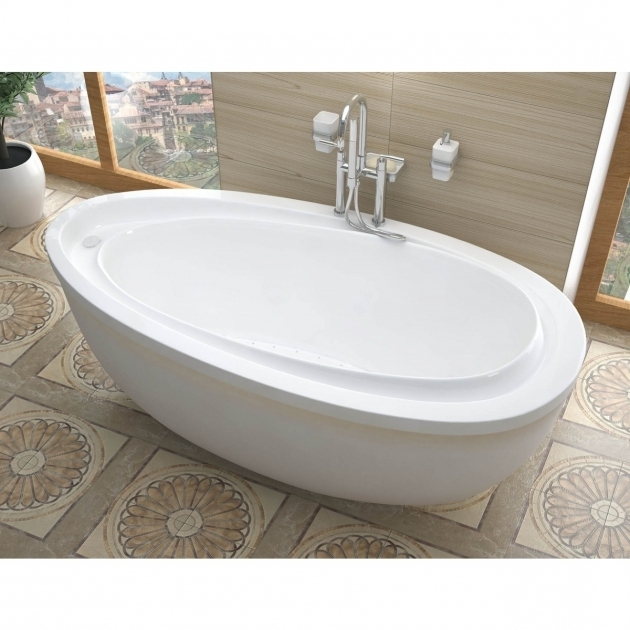 Stylish Freestanding Soaking Tub For Two 38 X 71 Oval Bathtub  Designs