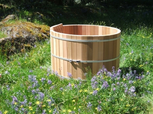 Alluring Outdoor Soaking Tub Japanese Style Wooden Soaking Tubs Forest Lumber Cooperage