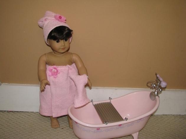 Amazing American Girl Doll Bathtub Karen Mom Of Threes Craft Blog Bath Time Outfit For American
