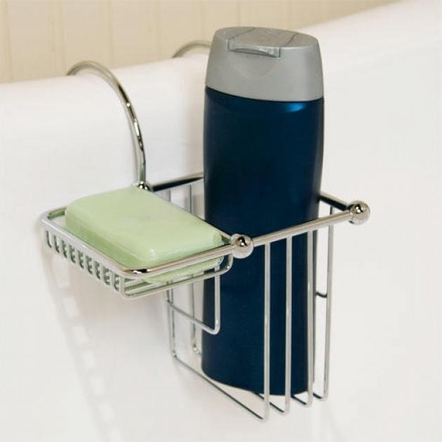 Fantastic Clawfoot Tub Shampoo Holder Over The Rim Shampoo Bottle And Soap Basket Bathroom