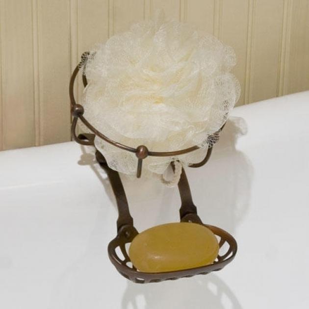Fascinating Clawfoot Tub Soap Dish Solid Brass Soap Holder And Sponge Basket Bathroom