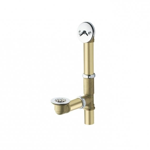 Gorgeous Bathtub Trip Lever Moen Brass Trip Lever Tub Drain Assembly In Chrome 90410 The