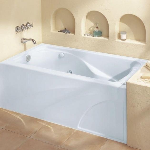 Image of American Standard Everclean Whirlpool Tub Bathroom American Standard Bathtubs Town Square 5 Ft X 42 In
