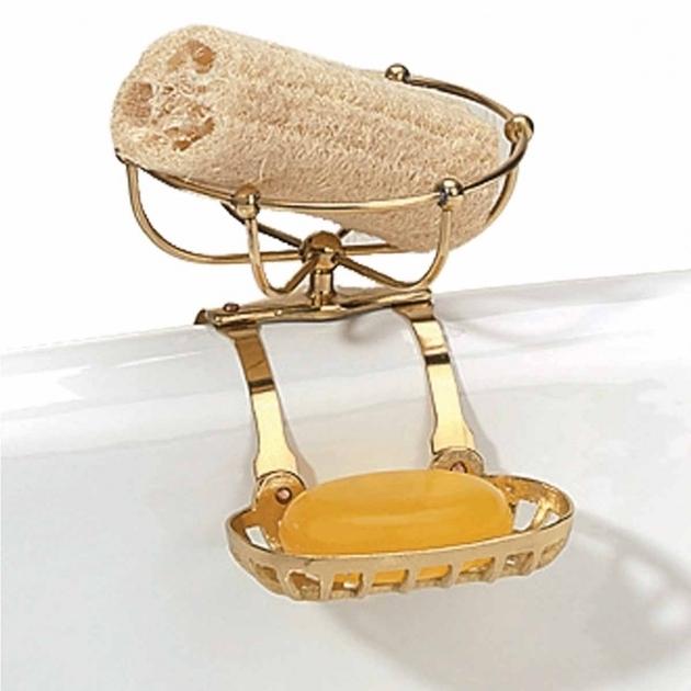 Image of Clawfoot Tub Soap Dish Clawfoot Tub Soap Dish Sponge Holder Brass Vintage Brass Finish