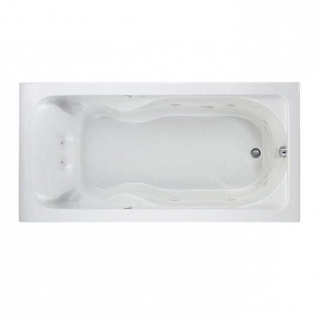 Image of Everclean Whirlpool Tub American Standard Cadet 6 Ft X 36 In Reversible Drain Everclean