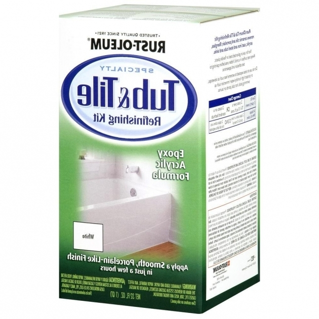 Image of Fiberglass Bathtub Repair Kit Rust Oleum Specialty 1 Qt White Tub And Tile Refinishing Kit
