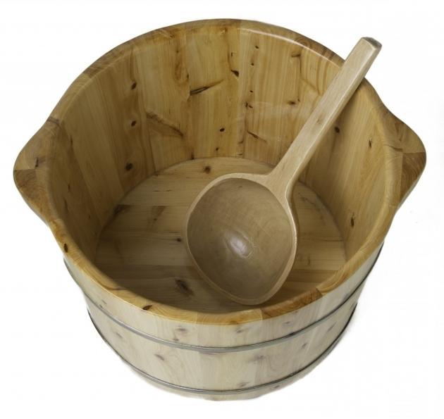 Incredible Foot Soaking Tub Alfi Ab 6604 Round Wooden Ceder Foot Soaking Tub
