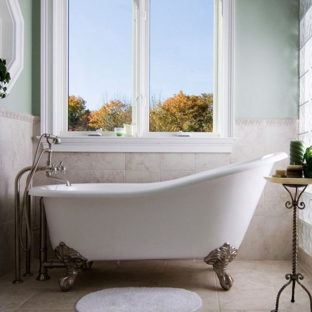 Marvelous Refinished Clawfoot Tub For Sale Randolph Morris 60 Inch Cast Iron Slipper Clawfoot Tub No Drillings