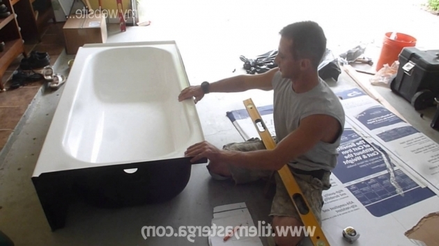 Outstanding Installing A New Bathtub Part 1 How To Install New Tub Level It Connect Drain And