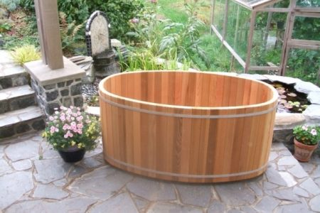Cedar Soaking Tub Bathtub Designs