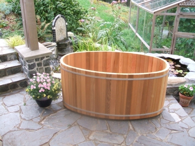 Picture of Outdoor Soaking Tub Japanese Style Wooden Soaking Tubs Forest Lumber Cooperage