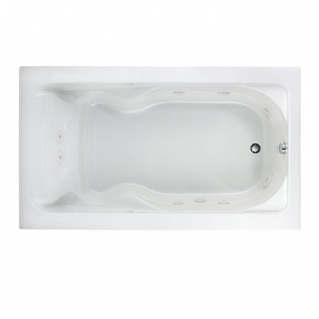 Remarkable Everclean Whirlpool Tub American Standard Everclean Cadet 6 Ft X 42 In Reversible Drain